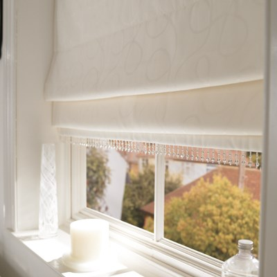 Delighful White Roman Blinds To Design